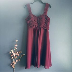 Bill Levkoff Chiffon Bridesmaid Dress